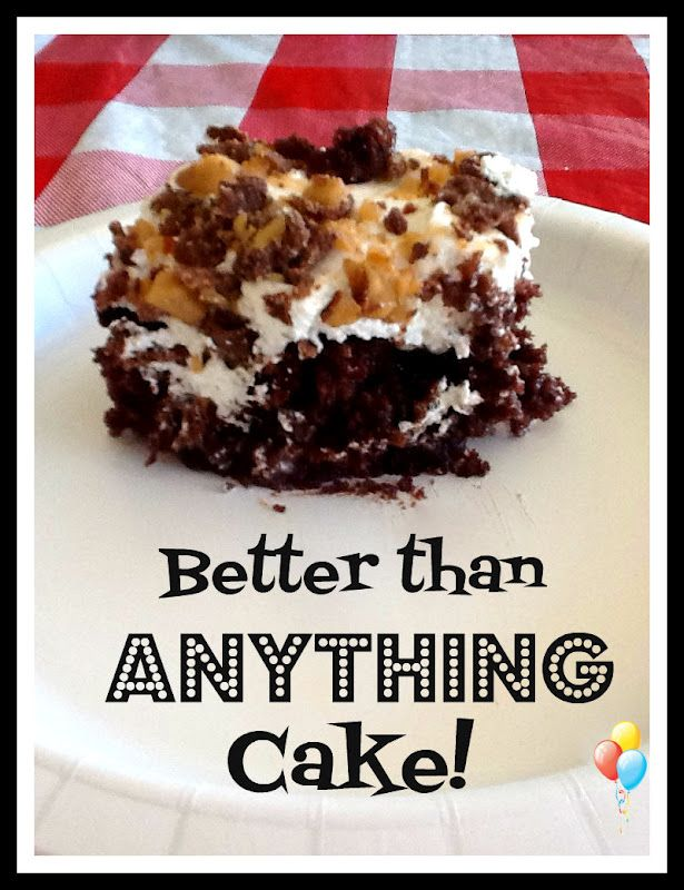 Better Than Anything Cake - chocolate cake mix, sweetened condensed ...