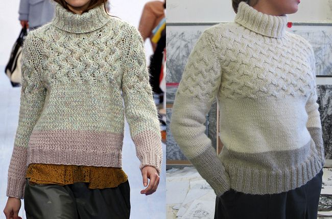 knit your own Chloé sweater