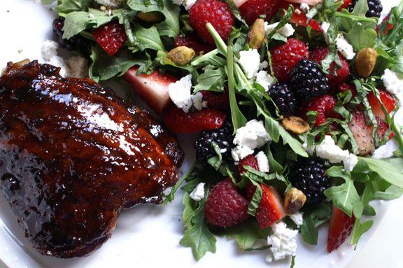 feast magazine, june 2014: pomegranate molasses-glazed chicken thighs ...