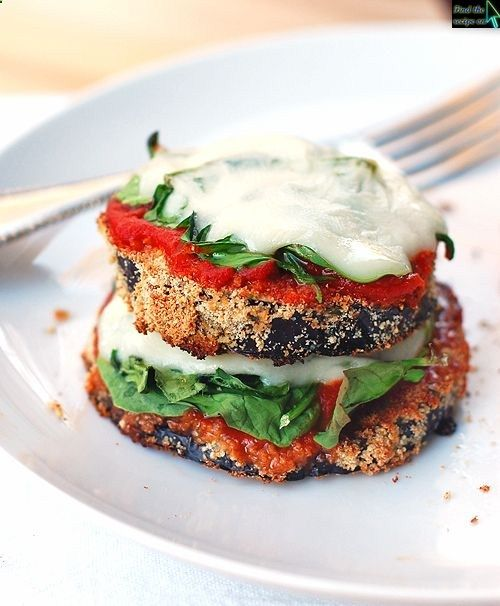 Cheesy Baked Eggplant Pizzas | Gluten Free Recipes | Pinterest