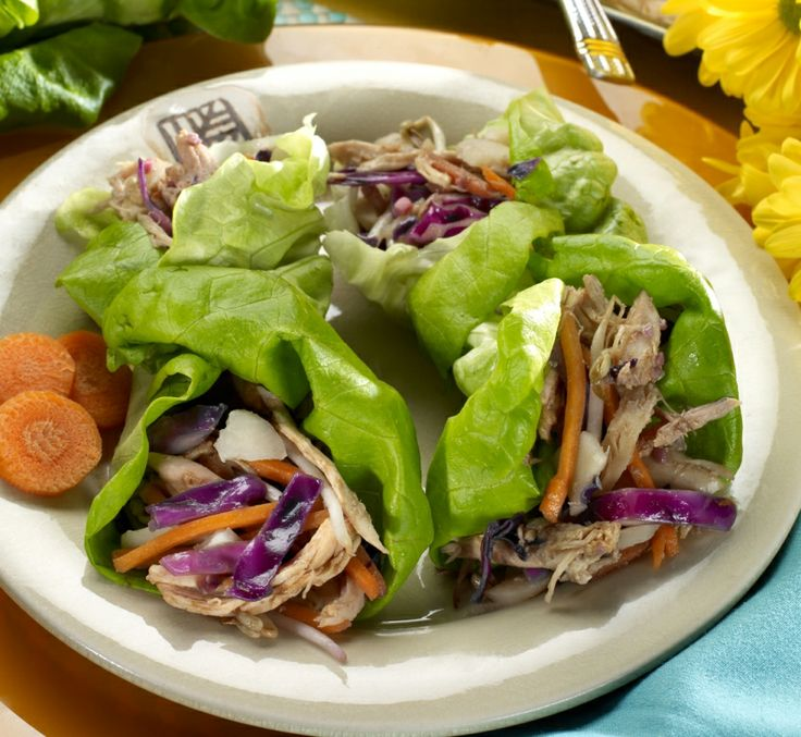Chicken Lettuce Wraps-tasty, terrific and from my diabetic cookbook ...