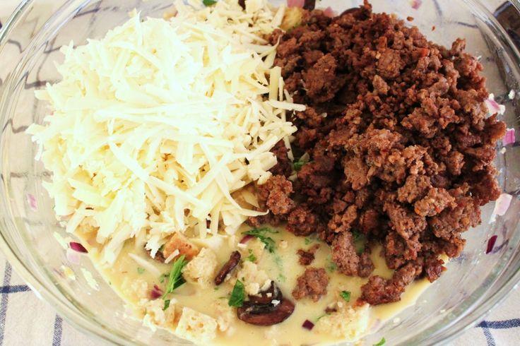 Make-Over Breakfast Sausage And Mushroom Strata Recipe — Dishmaps