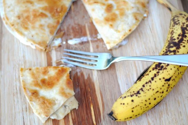 peanut butter–banana quesadillas. tortillas, peanut butter, banana ...