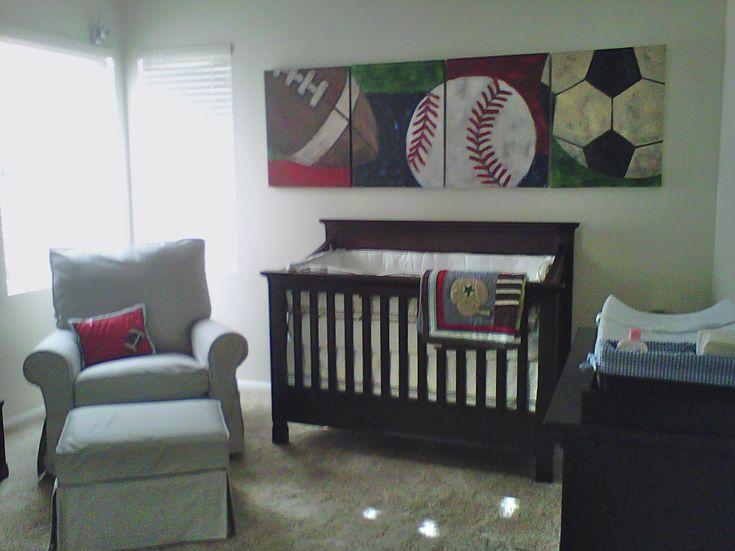 Sports themed nursery