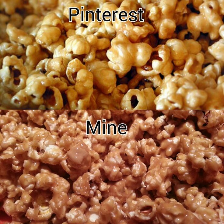 Peanut Butter popcorn... 1/3 cup sugar, 1/2 cup honey, bring to boil ...