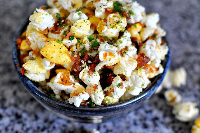 ... flakes and a whole lot of umami ness from furikake # popcorn # hawaii