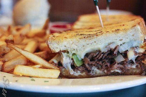 Ribeye Steak Sandwich w/ Hot Peppers | #Foodies# | Pinterest