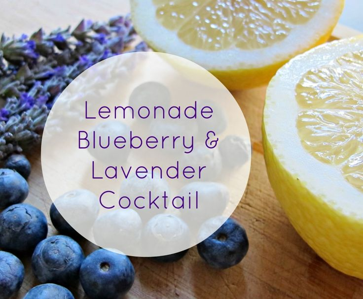 Lemonade, Blueberry & Lavender Cocktail #skinnycocktail