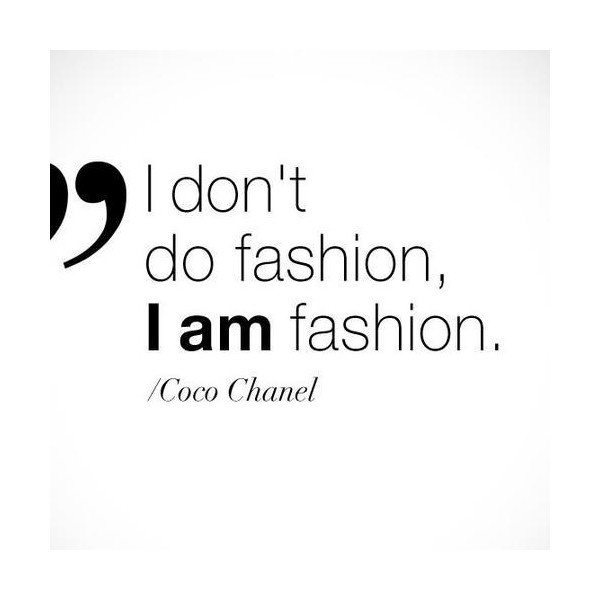 Quote I AM Fashion Chanel Background