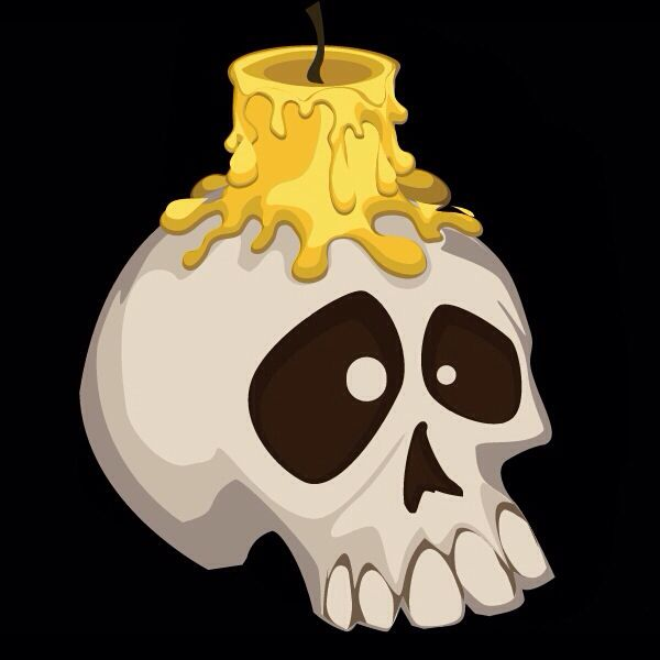 HALLOWEEN SKULL CANDLE | CLIP ART - HALLOWEEN - CLIPART | Pinterest