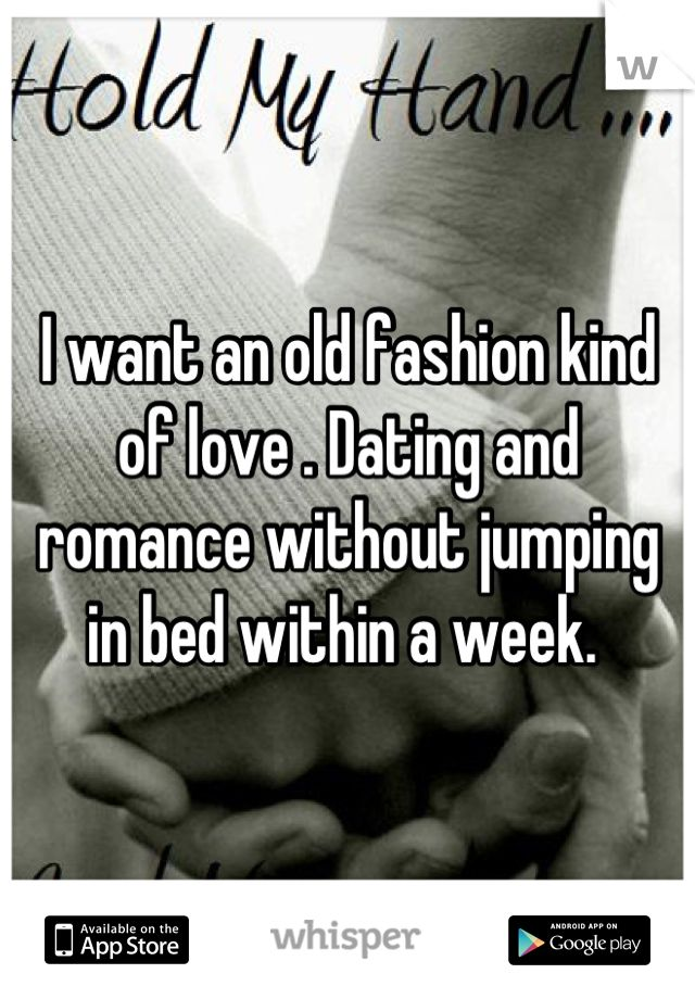 Old fashioned dating advice