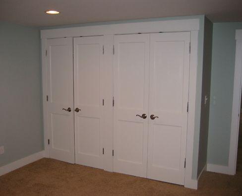 Closet doors basement closet ideas pinterest for Door idea pinterest