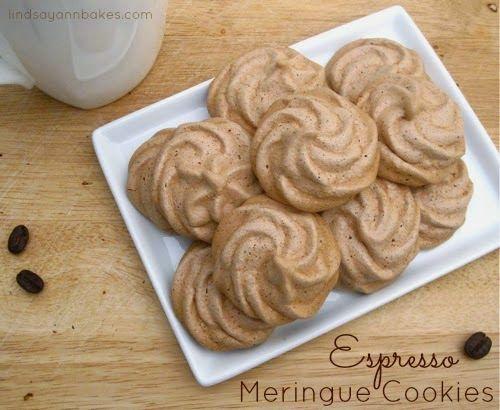 Espresso Meringue Cookies | Desserts - Cookies | Pinterest