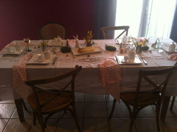Table decoration de Pâques  Decoration de table  Pinterest
