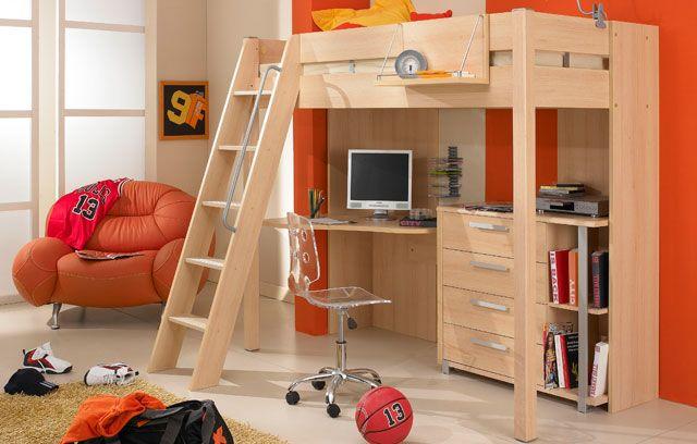 Lit mezzanine city by gautier chambre enfants pinterest - Lit mezzanine enfant ...