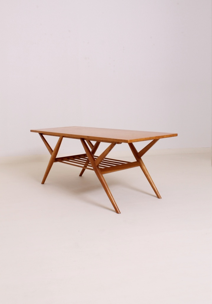 Birch Wood Coffee Table 1950s Interiors And Furniture Pinterest