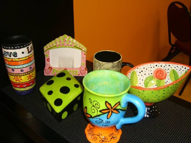 I love painting pottery find out where to do it for Diy ceramic painting