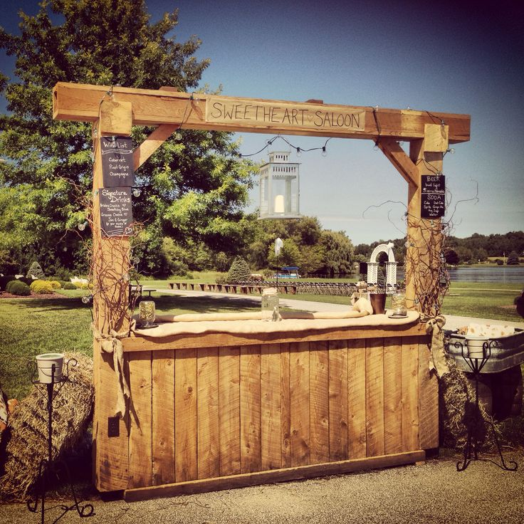 Rustic Backyard Bars : Rustic #wedding bar  Find more like this at httpwww