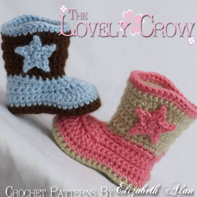 Free Crochet Patterns For Baby Girl Bonnets : Boots Crochet Pattern Cowboy for Baby BOOT SCOOTN BOOTS ...