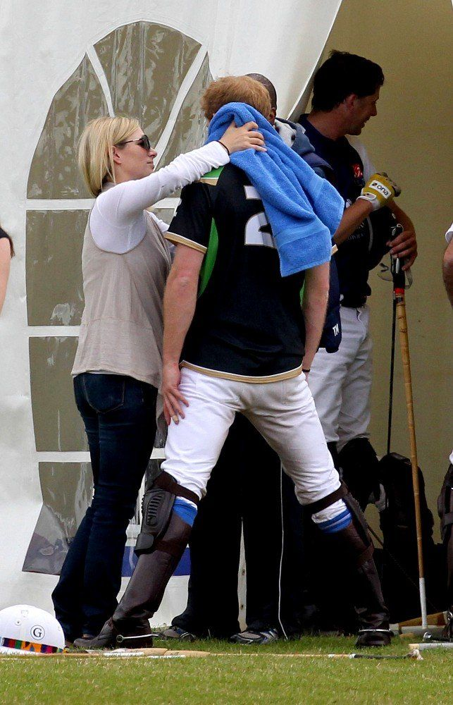 zara and prince harry at Polo Fields