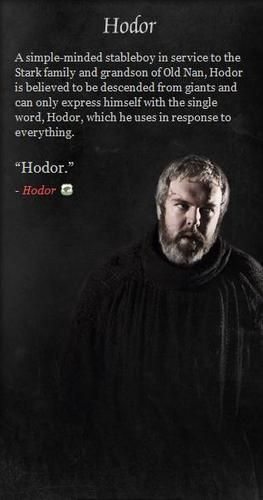 game of thrones hodor gifts