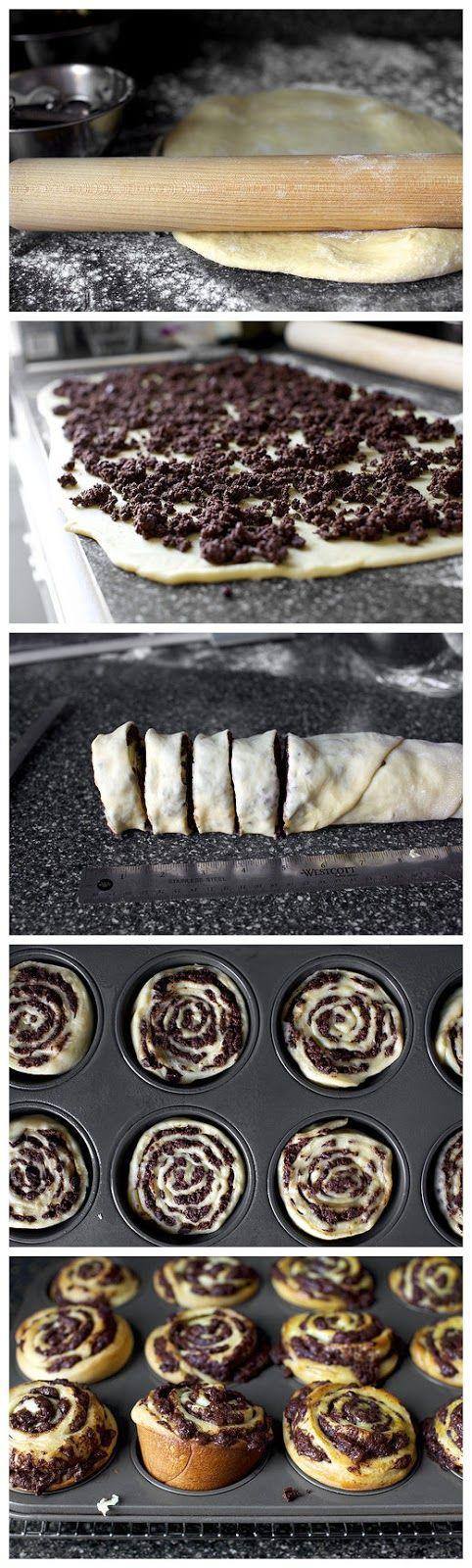chocolate swirl buns   Desserts!!   Pinterest