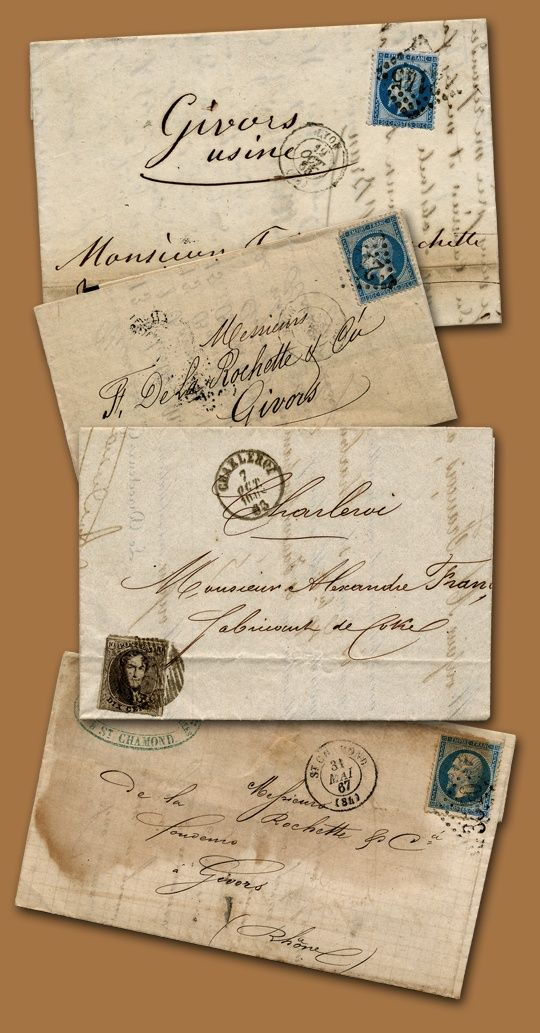 Exquisitely and beautiful handwritten French notes...perhaps revealing a secret rendezvous or a tale of impetus love...