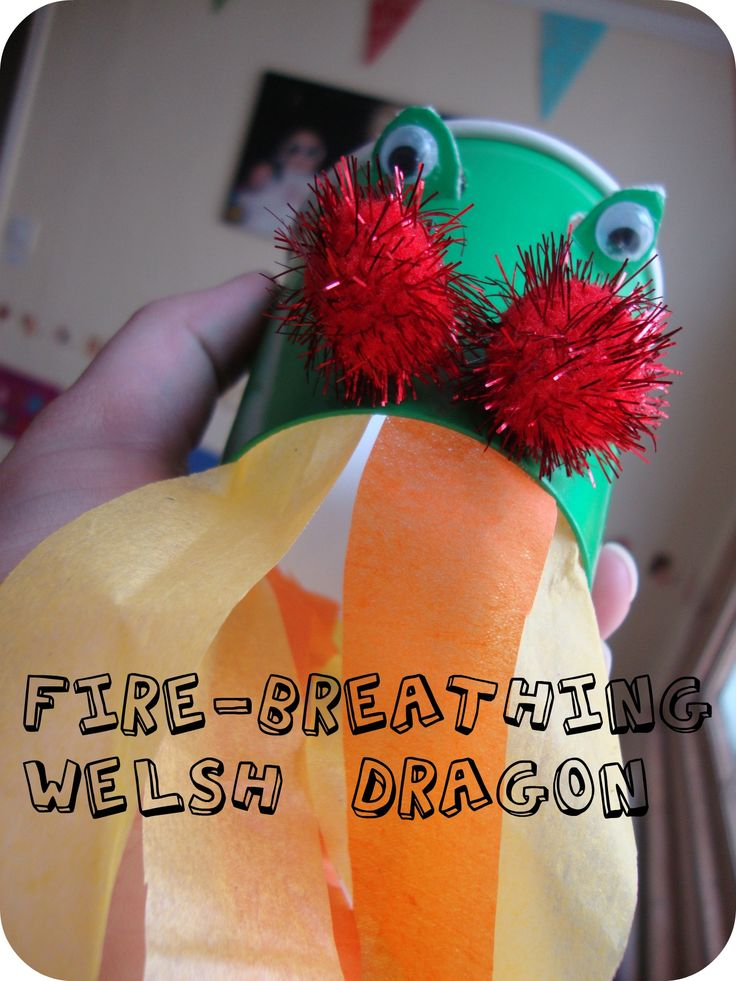 Welsh dragon craft st david 39 s day holidays pinterest for Dragon crafts pinterest