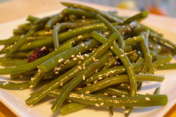 Green Beans With Sun-Dried Tomatoes and Almonds | Recipe