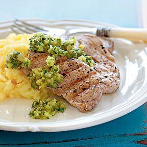Grilled Pork Tenderloin with Salsa Verde | CookingLight.com