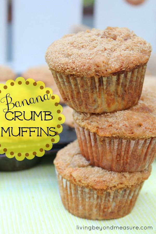 Banana Crumb Muffins | for the sweet tooth | Pinterest