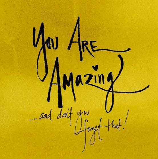 You are AMAZING Inspirational Quote  Naturally Dyed Drawing