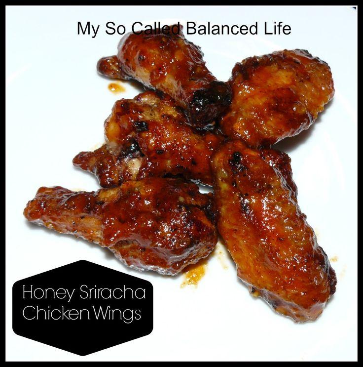 Honey Sriracha Chicken Wings   reviews   Pinterest