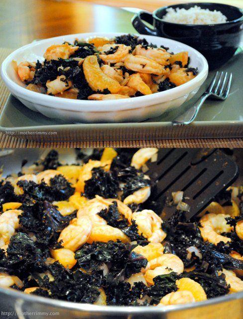 Shrimp and Kale with Orange Sauce | Recipe