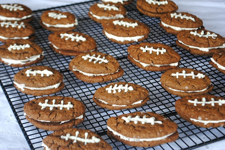 Chocolate Oatmeal Cream Pie Footballs - Shugary Sweets. These are ...