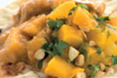Chicken mango curry on naan bread recipe, NZ Woman's Weekly – visit ...