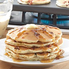 "Mancakes"" - pancakes made with beer and bacon!"