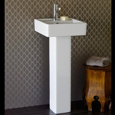 Porcher Pedestal Sink : Porcher Solutions Square Pedestal Bathroom Sink