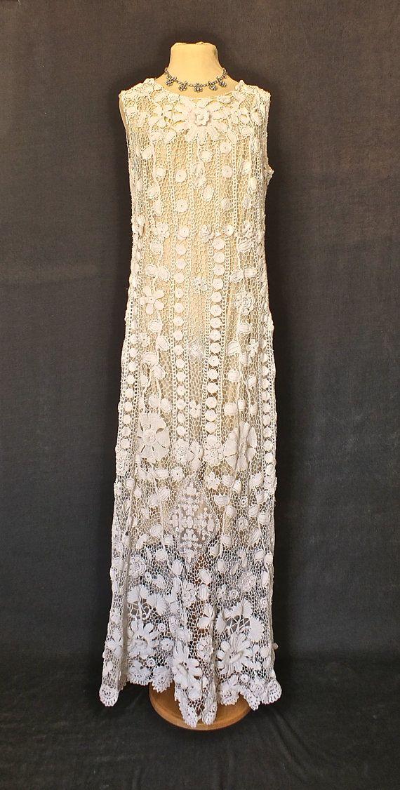 1930s Irish Crochet Dress - Vintage Wedding?