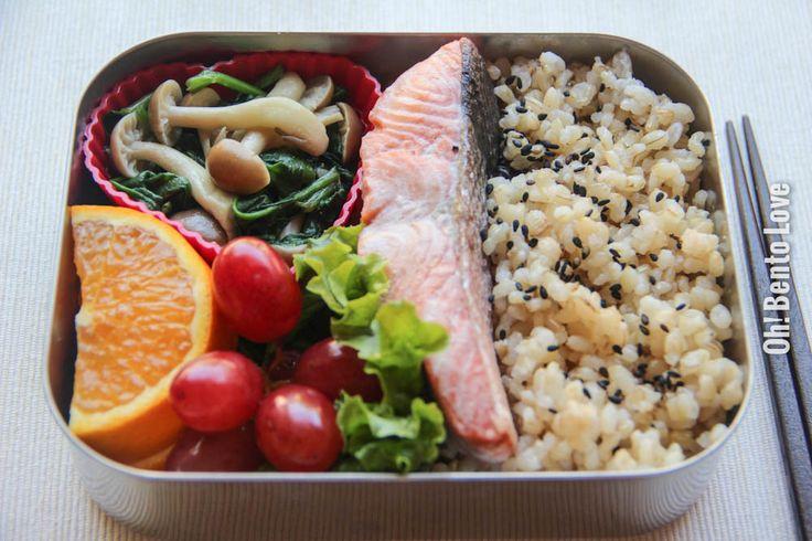 Salmon Shioyaki Bento | Nom nom nom | Pinterest
