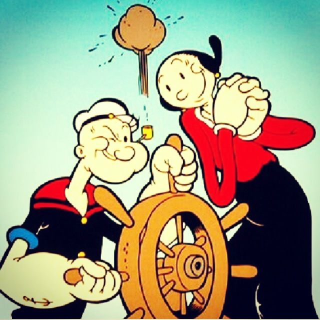 Popeye Characters Olive Oil