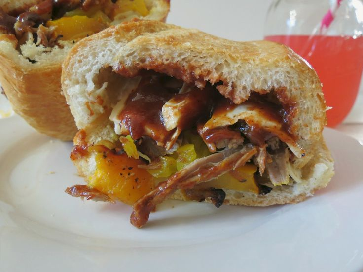 Grilled Tri Tip Steak Sandwich with Roasted Peppers and Onions ...