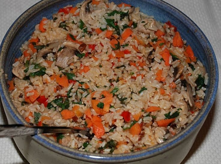 Rice-Vegetable Pilaf | RECIPES - MEATLESS - EGGS, CHEESE, RICE & PAST ...