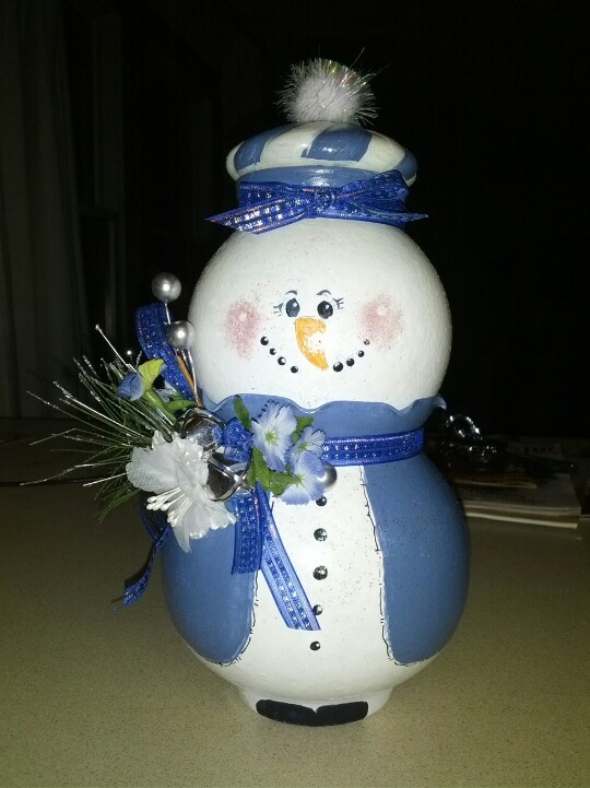 Snowman made from glass painted bowls | Craft ideas | Pinterest