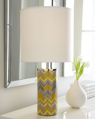 Mini Yellow Chevron Lamp by Jonathan Adler at Horchow.