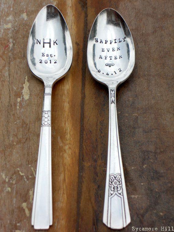 Handmade spoons for wedding