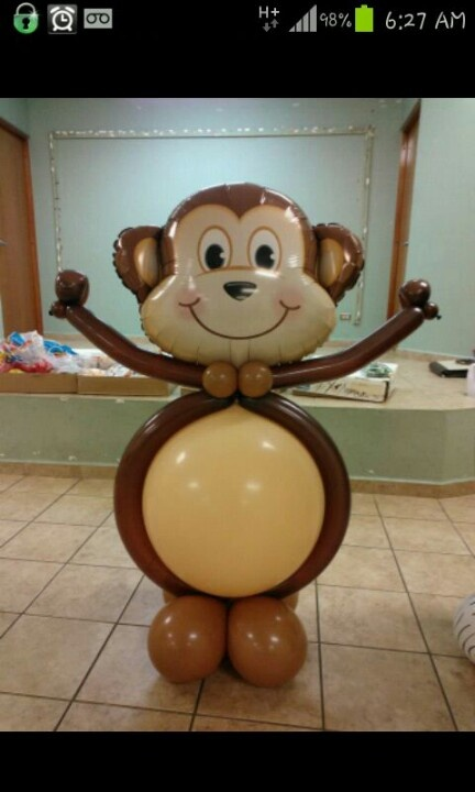 Monkey balloon decorations pinterest - Monkey balloons for baby shower ...