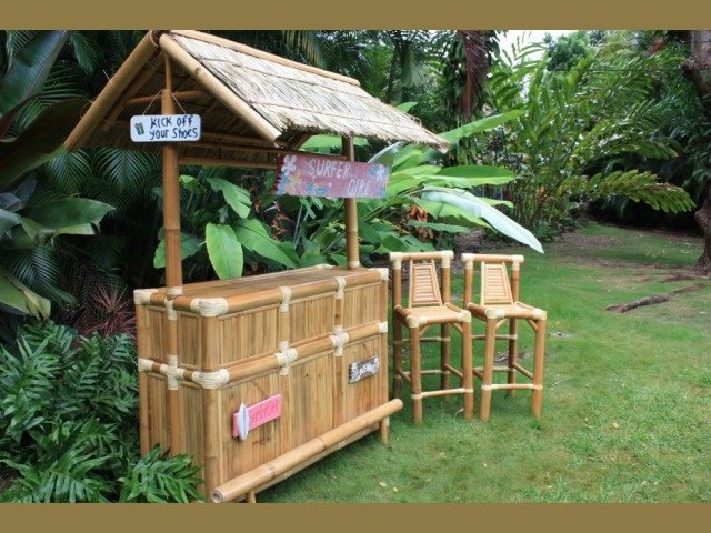 Tiki Bar Outdoors : Surfer Girl Tiki Bar  Outdoor Tiki Bar  For the Home  Pinterest