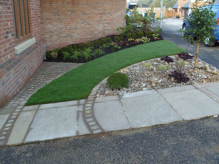 Garden Design For New Build House : Front garden