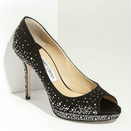 Jimmy Choo Dali Studded Pumps Black,Silver Heels Shoes
